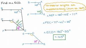 Video  Finding The Measure Of An Angle Using Consecutive
