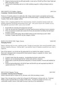 Bar Manager Resume Skills by Sle Bar Manager Resume Ideas On Writing Your Own