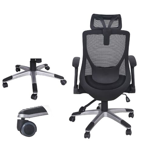 ergonomic high back mesh headrest adjustable office chair
