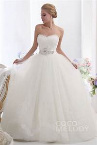 cocomelody ball gown sweetheart chapel train tulle With ball gowns wedding dresses