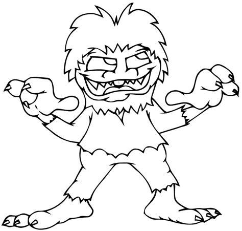 coloriage de monstre a imprimer monstre 224 3 griffes coloriage monstres gratuit sur webjunior