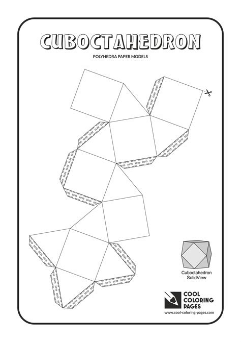 truncated cuboctahedron template cuboctahedron template pictures to pin on pinterest