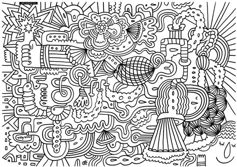 Coloring Doodle by Doodle To Print For Free Doodle Coloring Pages