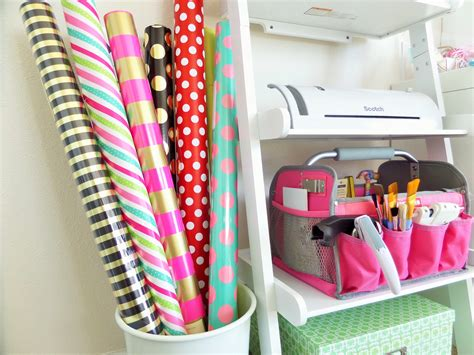 Gift Wrap & Craft Station Organization  Be My Guest With