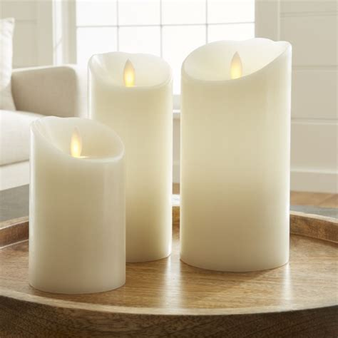 kitchen islands furniture flicker flameless ivory pillar candles crate and barrel