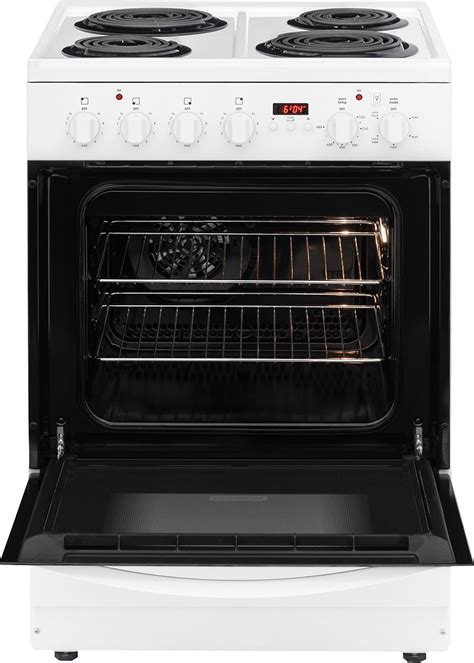 24 frigidaire white coil top electric range with convection cfef2411rw