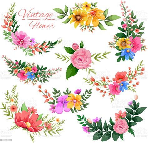 Watercolor Vintage Floral Frame Stock Vector Art & More