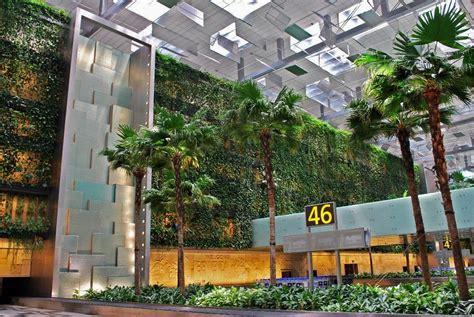 singapore changi airport terminal  greenwall greenroofscom