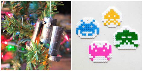 nerdy diy christmas ornaments craft paper scissors