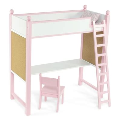 american bunk bed with desk 18 inch doll furniture loft bed and desk combo fits