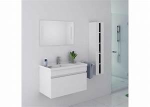 Meuble Salle De Bain Asymétrique : meuble salle de bain 1 vasque dis800ab meuble salle de bain mobilier de salle de bain ~ Nature-et-papiers.com Idées de Décoration