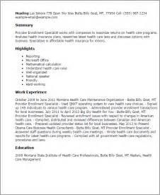 Care Provider Resume Sample