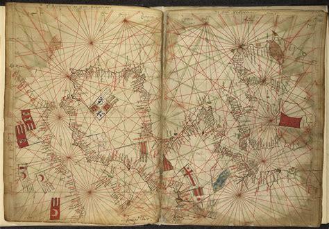 portolan chart  western europe  pietro vesconte