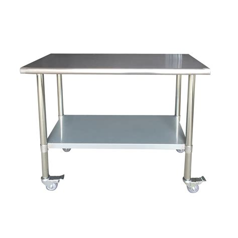 kitchen utility table seville classics stainless steel kitchen utility table