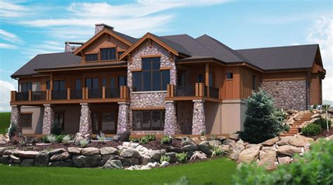 House Plans Walkout Basement Hillside Ideas Photo Gallery by Mountain View Plans For A Hillside Home With Walk Out Lower