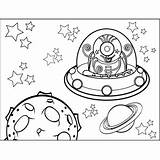 Space Alien Coloring Pages Printable Outer Flying Through Spaceship Freeprintablecoloringpages Aliens Happy Travel Among Print Features Stars sketch template