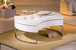 Table De Salon Originale : table basse vancouver tables basses colonnes soldes salon promos ~ Preciouscoupons.com Idées de Décoration