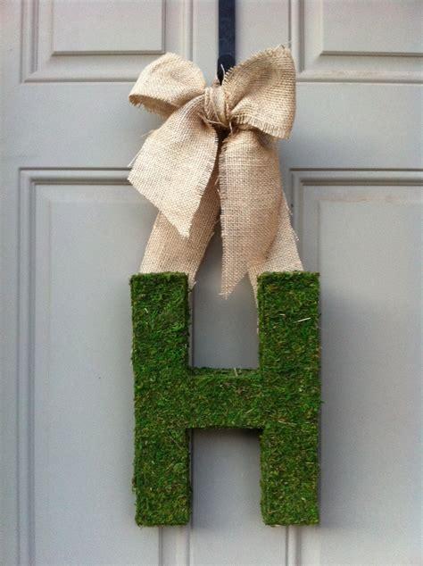sean  nicole moss monogram door decoration