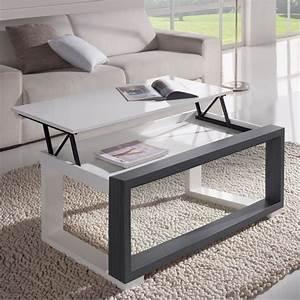 Table Basse Blanc Gris : table basse blanc gris table salon rectangulaire maison boncolac ~ Teatrodelosmanantiales.com Idées de Décoration