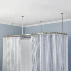 rectangular ceiling mount shower curtain rod bathroom