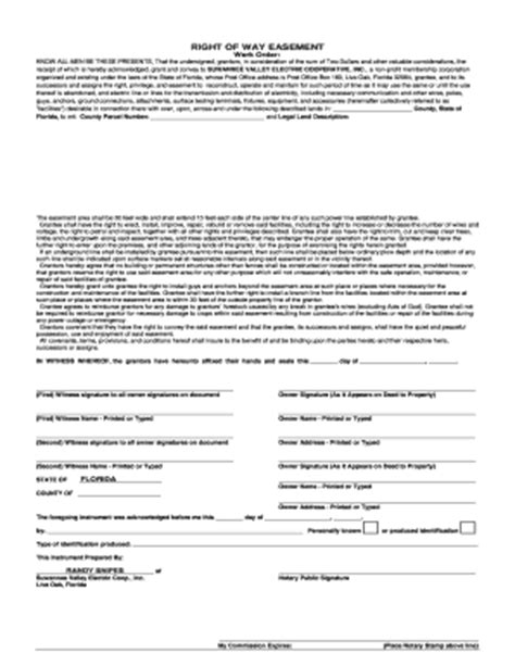 blank easement forms fillable online right of way easement suwannee valley