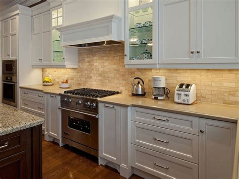 kitchen with backsplash idea best backsplash for white cabinets home designs idea 6490