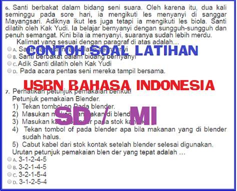 latihan soal usbn bahasa indonesia sd mi