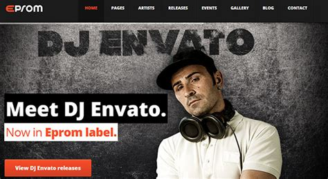 responsive dj wordpress themes