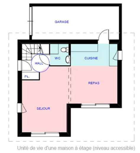 largeur porte chambre handicap dans maison plan pour maison adaptée à personne