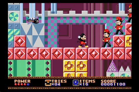 sega genesis mini game lineup adds castle  illusion
