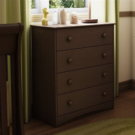 South Shore 6 Drawer Dresser Espresso by South Shore Furniture 4 Drawer Chest In Espresso