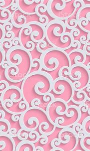 Pink Vector 3d Floral Damask Seamless Pattern Stock Vector ...