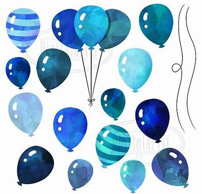 Watercolor Balloons Balloon Clipart Transparent Creativemarket Clip