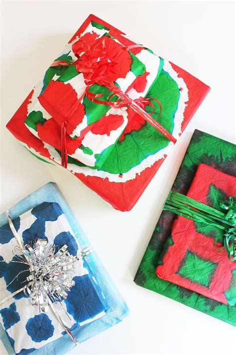 Diy Gift Wrapping Ideas Tie Dye Gift Wrap  Babble Dabble Do