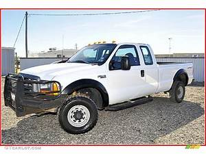 1999 Oxford White Ford F250 Super Duty Xl Extended Cab 4x4