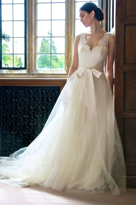 Lace And Tulle Wedding Dress By Augusta Jones Rustic