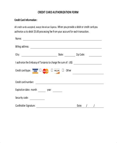 But, due to certain personal reasons, i no longer need the credit card. FREE 10+ Sample Credit Card Authorization Forms in MS Word   PDF   Excel