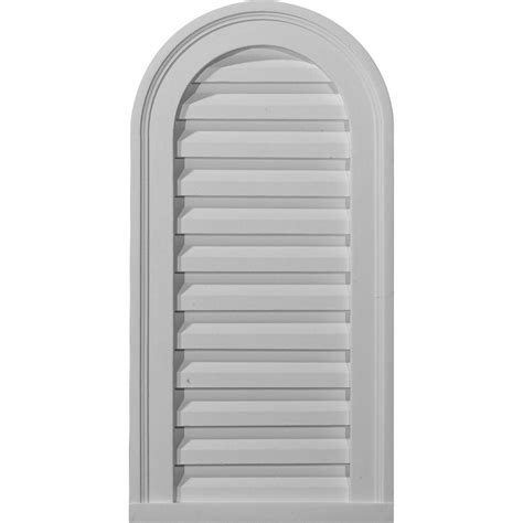 decorative gable vents home depot ekena millwork 2 in x 12 in x 24 in functional eyebrow