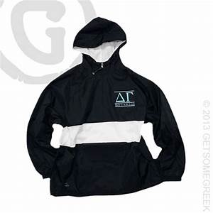 17 best images about delta gamma custom board on pinterest With sorority rain jacket with letters on back
