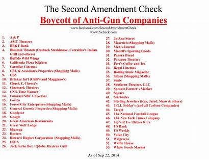Companies Gun Guns Anti Banned Boycott Business