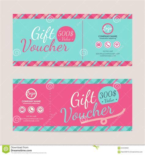 gift voucher template gift voucher template stock vector illustration of card 62424650