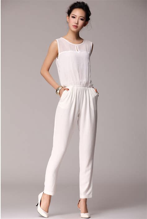 white jumpsuits for 2014 fashionable casual black white plus size