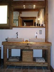 meuble vasque salle de bain rustique recherche google With meuble salle de bain rustique