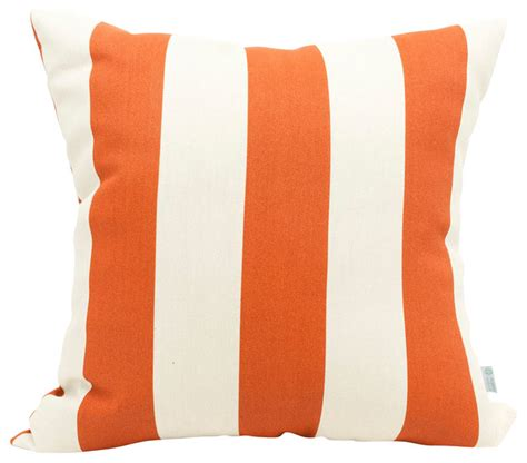 outdoor burnt orange vertical stripe large pillow
