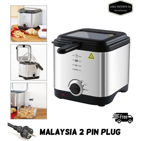 fryer deep 5l stainless steel fryers 900w quality superior shopee