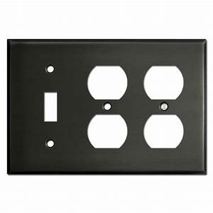 One Toggle Two Outlet Switch Plate Covers