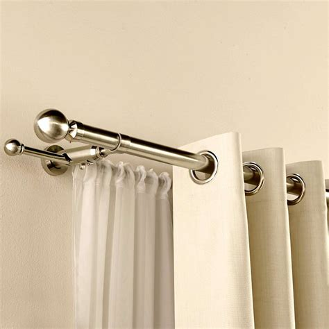 interior design curtain rods silver with artistic