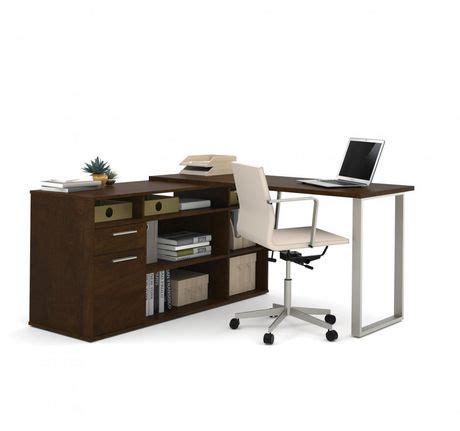 classeur bureau walmart bureau en l solay de bestar avec classeur latéral et