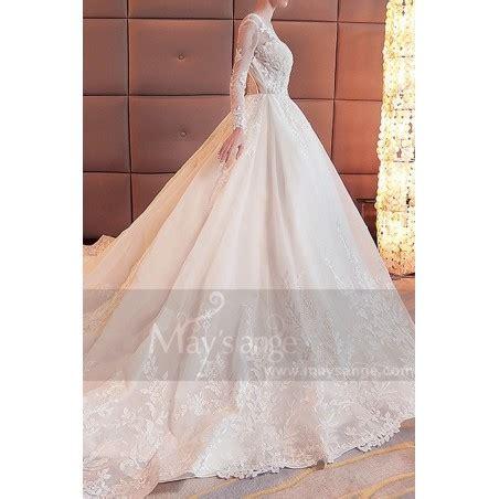robe pour mariage chetre 2018 robe de mari 233 e 2018 manche longue dos nu en dentelle