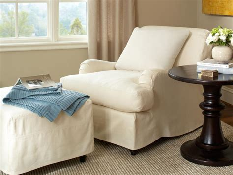 slipcover for chair and ottoman slipcovers for chairs ottomans and more hgtv